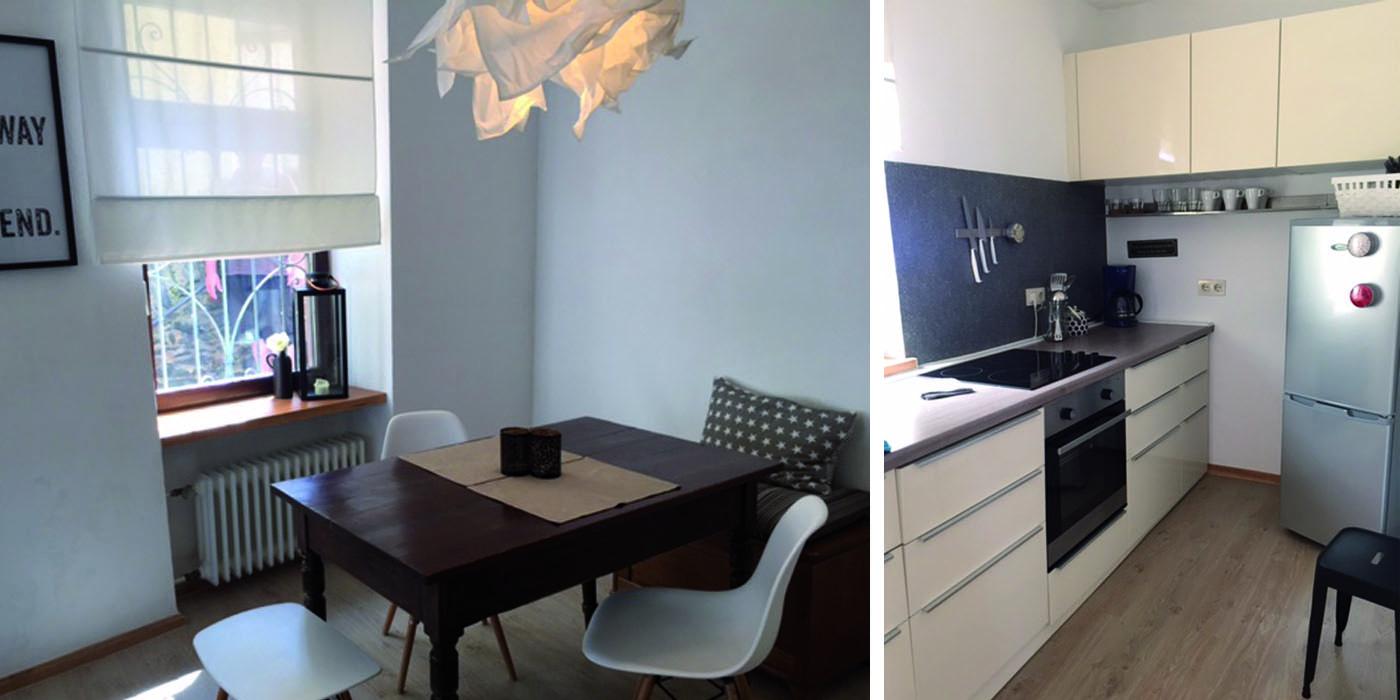 Küche im Stadthaus Apartment 2