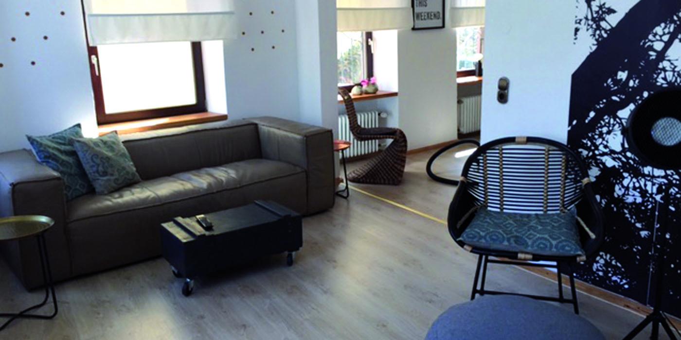 Wohnzimmer im Stadthaus Apartment 2